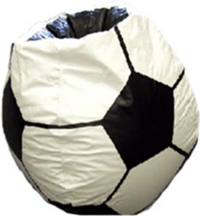 Silla del bolso de haba de futbol bola