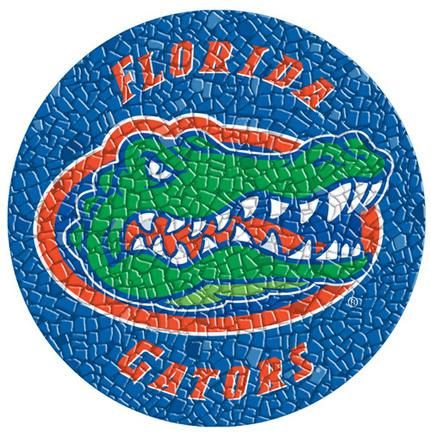 Mini 7 Inch Round Pool Art - Florida Gators NCAA Team Logo (Set of Four Emblems)