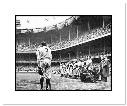 "Babe Ruth New York Yankees MLB ""Yankee Stadium Farewell"" Double Matted 8"" x 10"" Photograph"