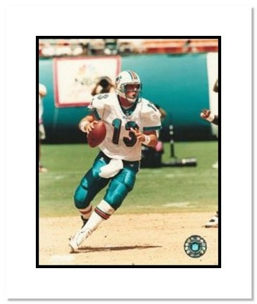 "Dan Marino Miami Dolphins NFL ""Dropping Back"" Double Matted 8"" x 10"" Photograph"