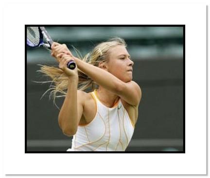 "Maria Sharapova Tennis ""2005 Wimbledon Close Up"" Double Matted 8"" x 10"" Photograph"