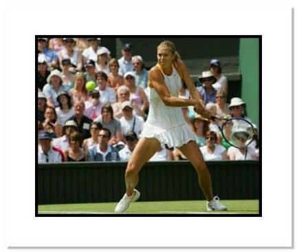 "Maria Sharapova Tennis ""2005 Wimbledon Swinging"" Double Matted 8"" x 10"" Photograph"