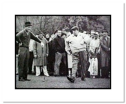 """Jackie Gleason PGA Golf """"Away We Go with Arnold Palmer"""" Double Matted 8"""" x 10"""" Photograph"""