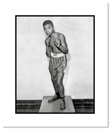 """Muhammad Ali Boxing """"Cassius Clay as Young Boy"""" Double Matted 8"""" x 10"""" Photograph"""