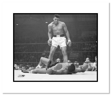 "Muhammad Ali Boxing ""1964 over Sonny Liston"" Double Matted 8"" x 10"" Photograph"