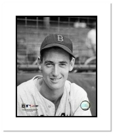 """Ted Williams Boston Red Sox MLB """"Close Up"""" Double Matted 8"""" x 10"""" Photograph"""