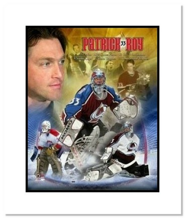 """Patrick Roy Montreal Canadiens NHL """"Legends Collage"""" Double Matted 8"""" x 10"""" Photograph"""