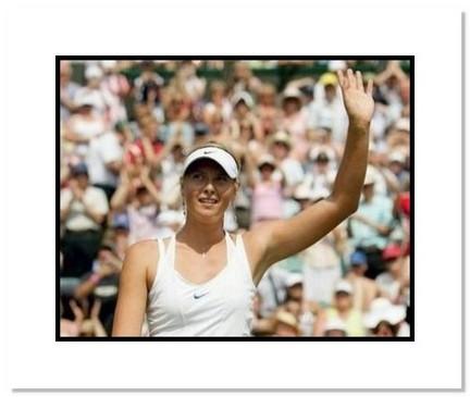 "Maria Sharapova Tennis ""2006 Wimbledon Wave to Crowd"" Double Matted 8"" x 10"" Photograph"