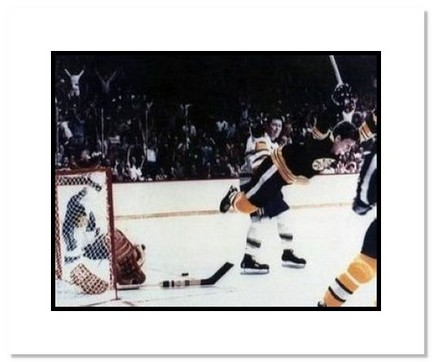 """Bobby Orr Boston Bruins NHL """"'The Dive' Color"""" Double Matted 8"""" x 10"""" Photograph"""
