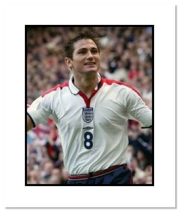 """Frank Lampard (England) """"Goal Celebration at World Cup"""" Double Matted 8"""" x 10"""" Photograph"""
