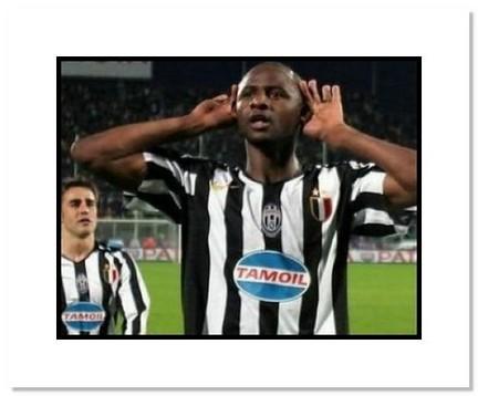 "Patrick Vieira Juventus ""Goal Celebration"" Double Matted 8"" x 10"" Photograph"