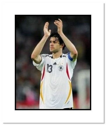 """Michael Ballack (Germany) """"Clapping at World Cup"""" Double Matted 8"""" x 10"""" Photograph"""