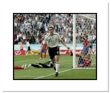 "Miroslav Klose (Germany) ""Goal Celebration at World Cup"" Double Matted 8"" x 10"" Photograph"