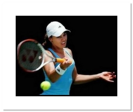 """Martina Hingis Tennis """"Forehand"""" Double Matted 8"""" x 10"""" Photograph"""