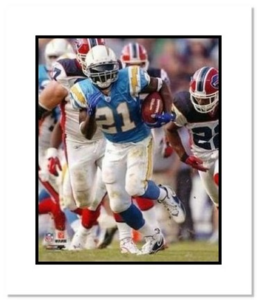 """LaDainian Tomlinson San Diego Chargers NFL """"Powder Blue Rushing"""" Double Matted 8"""" x 10"""" Photograph"""