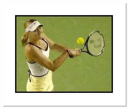 "Maria Sharapova Tennis ""2007 Australian Open Final Backhand"" Double Matted 8"" x 10"" Photograph"