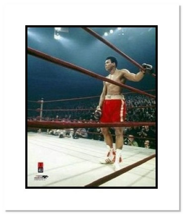 "Muhammad Ali Boxing ""Corner of Ali/Frazier I"" Double Matted 8"" x 10"" Photograph"