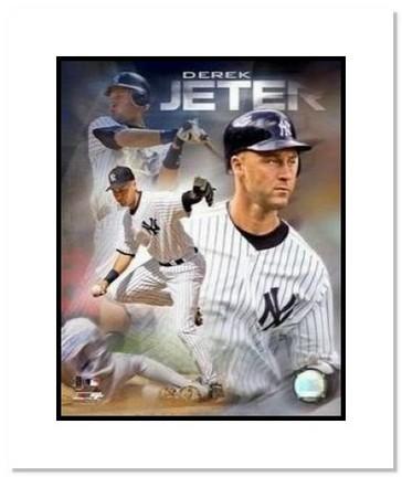 "Derek Jeter New York Yankees MLB ""Portrait Plus"" Double Matted 8"" x 10"" Photograph"