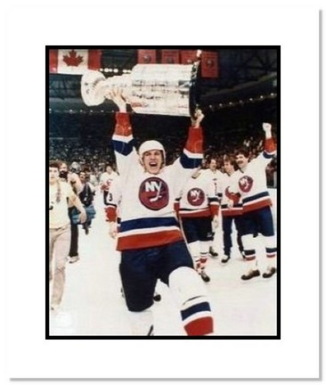 "Mike Bossy New York Islanders NHL """"Stanley Cup Overhead"""" Double Matted 8"""" x 10"""" Photograph"" AAA-10523M"