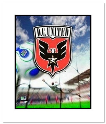 """DC United MLS Soccer """"Team Logo"""" Double Matted 8"""" x 10"""" Photograph"""
