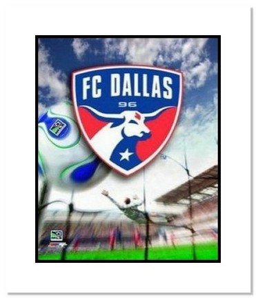"""FC Dallas MLS Soccer """"Team Logo"""" Double Matted 8"""" x 10"""" Photograph"""