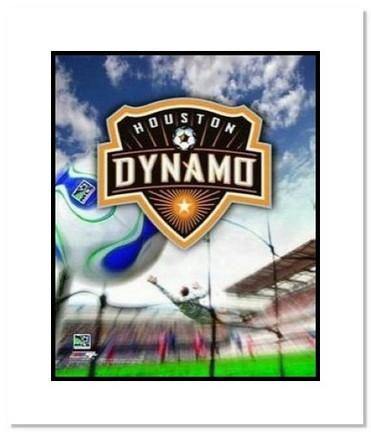 "Houston Dynamo MLS Soccer ""Team Logo"" Double Matted 8"" x 10"" Photograph"