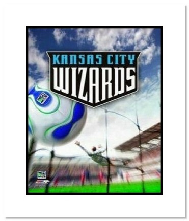 "Kansas City Wizards MLS Soccer ""Team Logo"" Double Matted 8"" x 10"" Photograph"