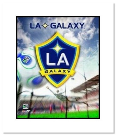 "Los Angeles Galaxy MLS Soccer ""Team Logo"" Double Matted 8"" x 10"" Photograph"