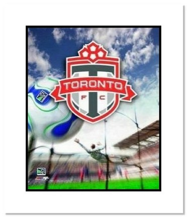 """Toronto FC MLS Soccer """"Team Logo"""" Double Matted 8"""" x 10"""" Photograph"""