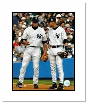 "Alex Rodriguez and Derek Jeter New York Yankees MLB ""Talking"" Double Matted 8"" x 10"" Photograph"