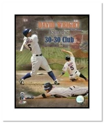 "David Wright New York Mets MLB ""30/30 Club Collage"" Double Matted 8"" x 10"" Photograph"