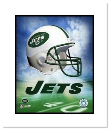 "New York Jets NFL ""Team Logo and Football Helmet Collage"" Double Matted 8"" x 10"" Photograph"