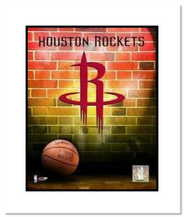 "Houston Rockets NBA ""Team Logo and Basketball"" Double Matted 8"" x 10"" Photograph"