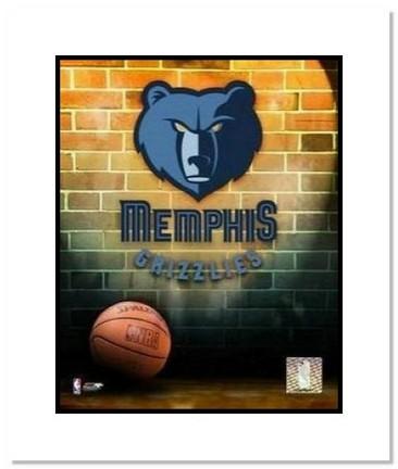 "Memphis Grizzlies NBA ""Team Logo and Basketball"" Double Matted 8"" x 10"" Photograph"
