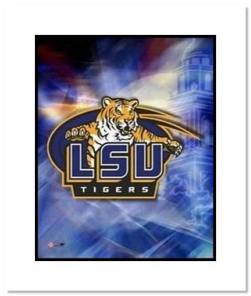 "Louisiana State Tigers (LSU) NCAA """"Louisiana State University Team Logo"""" Double Matted 8"""" x 10"""" Photograph"" AAA-10827M"
