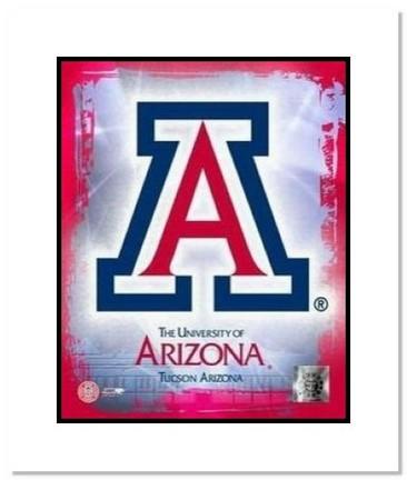 "Arizona Wildcats NCAA ""University of Arizona Team Logo"" Double Matted 8"" x 10"" Photograph"