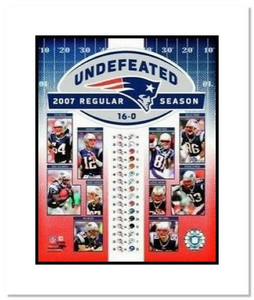 "New England Patriots NFL ""2007 Undefeated Regular Season Collage"" Double Matted 8"" x 10"" Photograph"