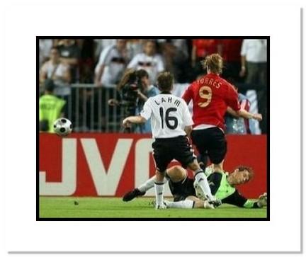 "Fernando Torres (Spain) ""2008 European Championship Goal"" Double Matted 8"" x 10"" Photograph"