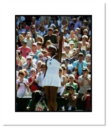 """Venus Williams """"2008 Wimbledon Waving to Crowd"""" Double Matted 8"""" x 10"""" Photograph"""