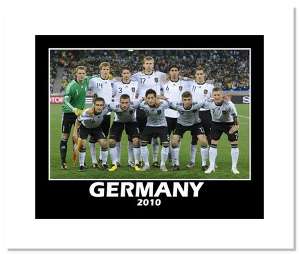 """2010 Team Germany """"World Cup Starting Eleven"""" Double Matted 8"""" x 10"""" Photograph"""