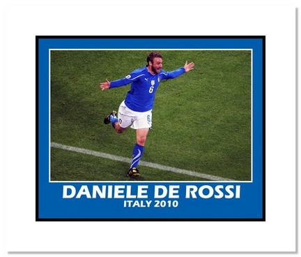 "Daniele De Rossi (Italy) """"2010 at World Cup Goal"""" Double Matted 8"""" x 10"""" Photograph"" AAA-11449M"