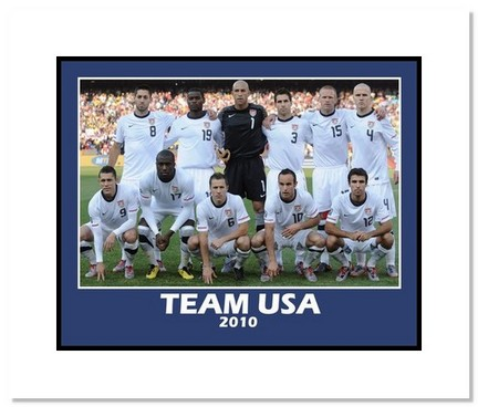 """2010 Team USA """"World Cup Starting Eleven"""" Double Matted 8"""" x 10"""" Photograph"""