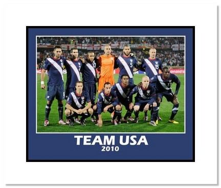 """2010 Team USA """"World Cup Starting Eleven 2"""" Double Matted 8"""" x 10"""" Photograph"""