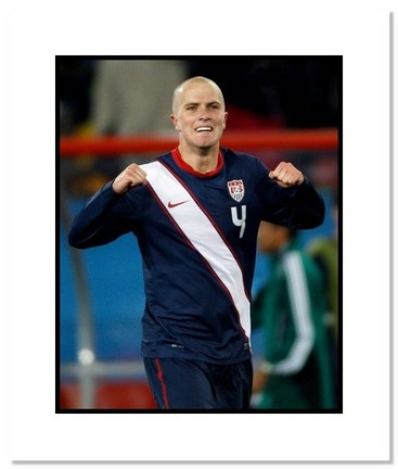 "Michael Bradley (USA) ""2010 at World Cup"" Double Matted 8"" x 10"" Photograph"