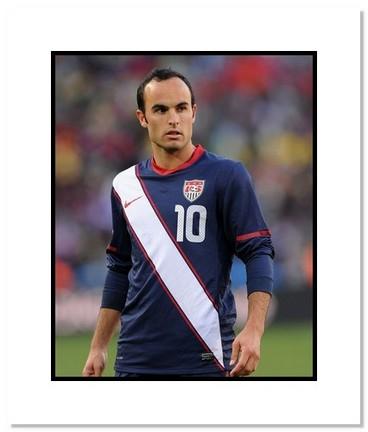 "Landon Donovan (USA) ""2010 at World Cup"" Double Matted 8"" x 10"" Photograph"