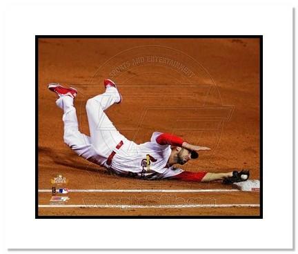"Chris Carpenter St. Louis Cardinals 2011 World Series """"Game 1 First Base Dive"""" Double Matted 8"""" x 10"""" Photograph (Unframed)"" AAA-11617M"