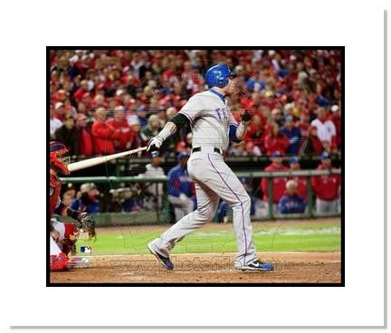 "Josh Hamilton Texas Rangers 2011 World Series ""Game 2"" Double Matted 8"" x 10"" Photograph (Unframed)"