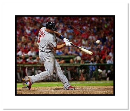 "Sporting Goods Stores Albert Pujols St. Louis Cardinals 2011 World Series ""Game 3 Home Run"" Double Matted 8"" x 10"" Photograph (Unframed)"