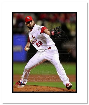 """Chris Carpenter St. Louis Cardinals 2011 World Series """"Game 7 Pitching"""" Double Matted 8"""" x 10"""" Photo"""