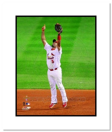 "Sporting Goods Stores Albert Pujols St. Louis Cardinals 2011 World Series ""Last Out"" Double Matted 8"" x 10"" Photograph (Unframed)"